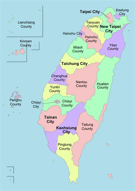 File:Taiwan ROC political divisions labeled